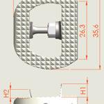 HRC™ ALIF A2L Стабилизирующий поясничный кейдж для передней установки с двумя фиксирующими лезвиями